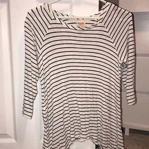 Target- Striped Quarter Sleeve Shirt- Size Small